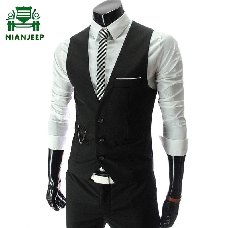 2020 New Men's Dress Vests Men's Fashion Slim Fit Suit Vest Men Casual Sleeveless Formal Business Jacket Male Formal Waistcoat