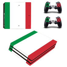Red White Green Style Skin Sticker for PS4 Pro Console And Controllers Decal Vinyl Skins Cover YSP4P-3385