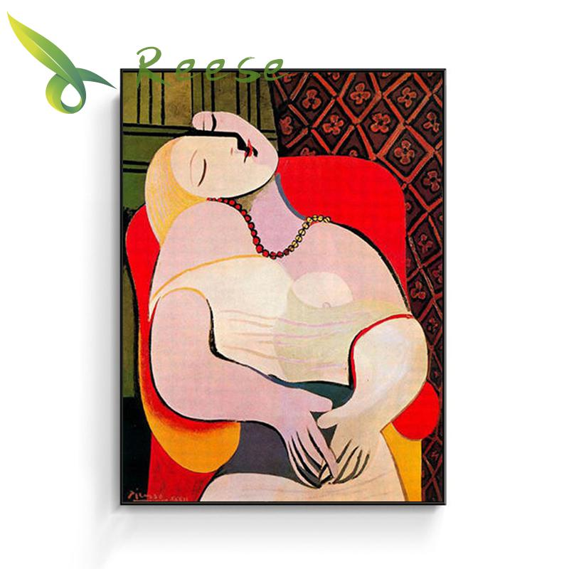 Needle Arts Craft Diy Full Round Diamond Painting Abstract Cross Stitch Embroidery In The Red Woman Sleeping In An Easy Chair in Diamond Painting Cross Stitch from Home Garden