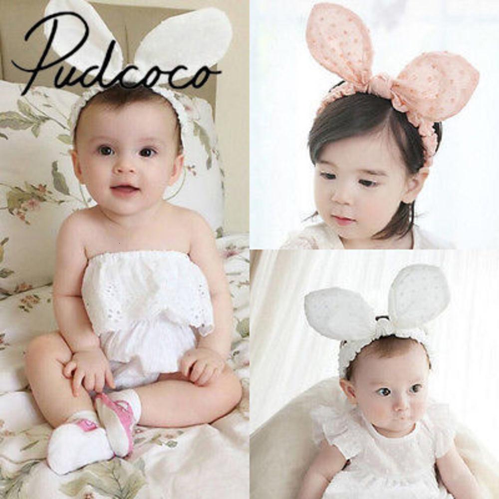 Lovely Kids Girls Baby Toddler Rabbit Ears Elastic Cotton Headband Hair Band Easter Costume