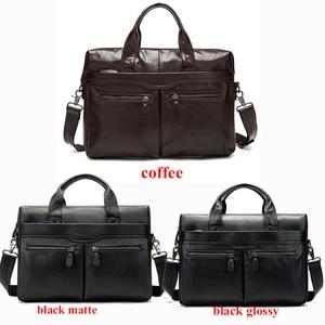 Image 3 - WESTAL sac à bandoulière en cuir véritable pour hommes, sac à épaule/fourre tout sacs pour ordinateur portable