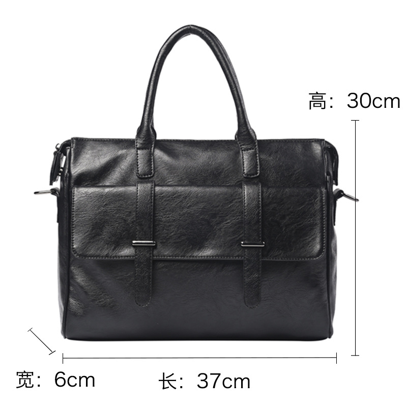 1PCS  Men's Bag One Shoulder Slant Hand-held Retro-Ancient Trend Travel Men's Computer Bag Briefcase