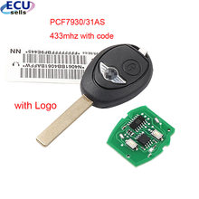 2 botão remoto chave 433mhz id73 chip para bmw mini cooper s r50 r53 um completo 7935 pcf7930/31as