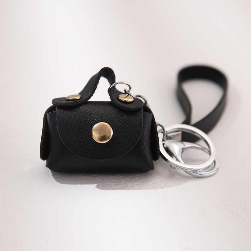 PACGOTH nowe mody PU Leaher z liny mini kluczyk kolorowe monety kiesy dla kobiet pieniądze brelok etui na monety pokrowiec torba, 1PC