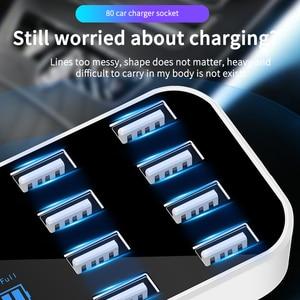 Image 3 - Быстрое Автомобильное зарядное устройство, автомобильное зарядное устройство с 8 портами USB и ЖК дисплеем, зарядное устройство для телефона 12 В, зарядное устройство для телефона, планшета, GPS, DVR
