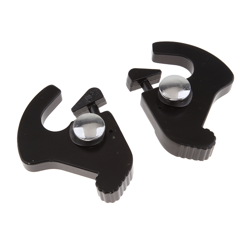 Black Detachable Rotary Sissy Bar Luggage Rack Docking Latch Clip For