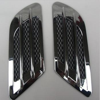 1pair Car Side Air Flow Fake Vent Hole Cover Fender Intake Grille Duct Decoration Sticker Auto cool sticky exterior decor image