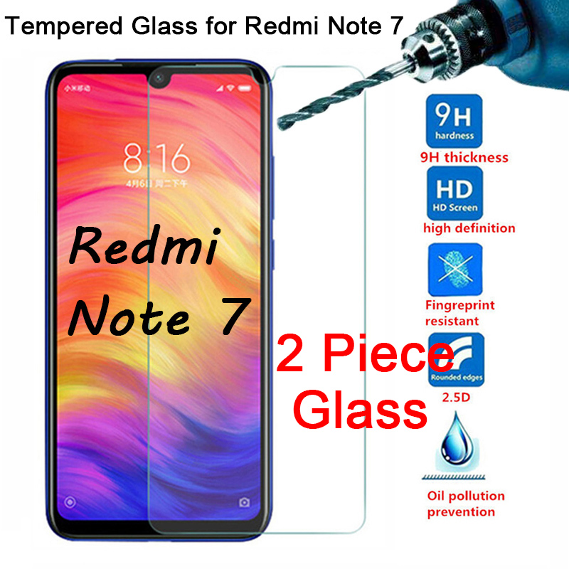 2 Pieces/Lot Phone Tempered Glass For Redmi Note 7 Protective Film Screen Protector For Xiaomi Redmi Note 6 Pro 5A Prime 5 6A