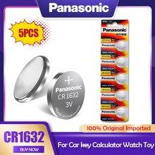 Литий-ионный аккумулятор Panasonic CR1632 CR 1632 3 в, 5 шт., DL1632 BR1632 ECR1632 GPCR для игрушек, калькуляторов, часов, часовых кнопок