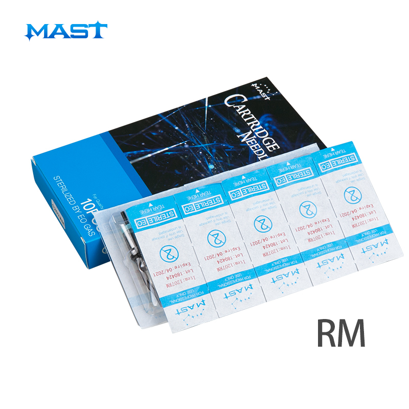 Disposable Sterile Tattoo Cartridge Needles RM For Tattoo Rotary Pen 10pcs Curved Round Magnum Supplies