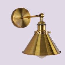 Luces de pared, lámpara de pared Industrial Vintage, candelabros dorados, E27, desván simple ajustable, decoración de restaurante de tienda familiar