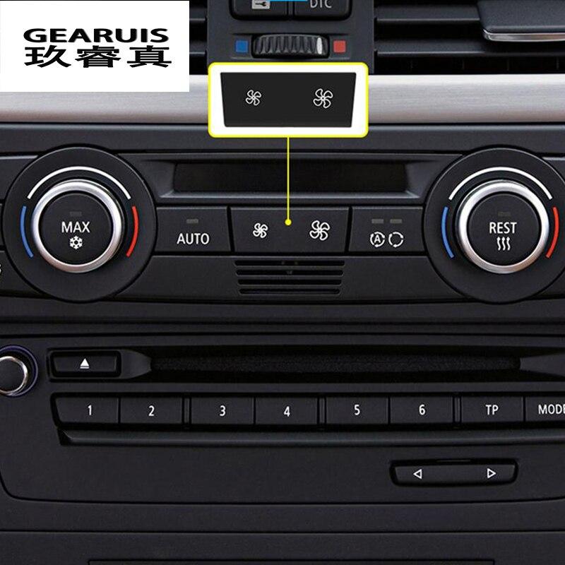Interior del Coche Altavoz de decoración Pegatinas de panel de control de Fibra de Carbono para BMW E90 3
