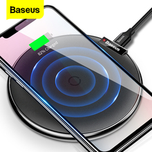 Baseus carregador sem fio para iphone 11 pro xs max xr x rápido usb almofada de carregamento sem fio para samsung s10 nota 10 qi carregador sem fio