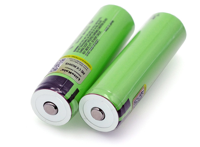 Liitokala new NCR18650B 3.7v 3400 mAh 18650 Lithium Rechargeable Battery with Pointed (No PCB) batteries 2