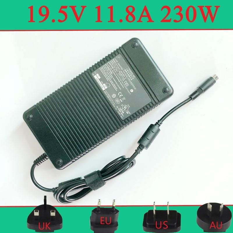 19.5v 11.8 Circular Four-pin Laptop Ac Adaptive Charger Adp-230eb T For Clevo D700T D900K D910T M590K M980NU P170HM3 P172SM P177