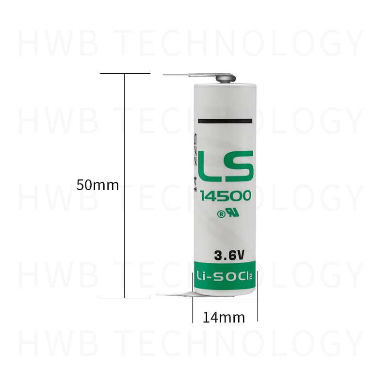 2 قطعة/الوحدة جديد ل LS14500 AA ER14505M 3.6v 2600mah بطارية ليثيوم ، مع دبابيس لحام المعدات و الأدوات البطارية