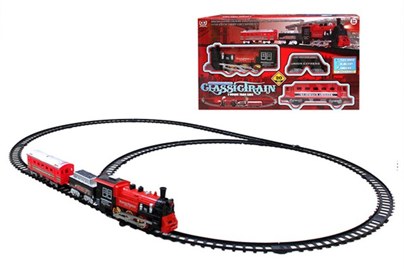 Children Assembled Electric Rail Train Smoke Camera Track Christmas Small Train Camera Track Car Set Children'S Educational Toy