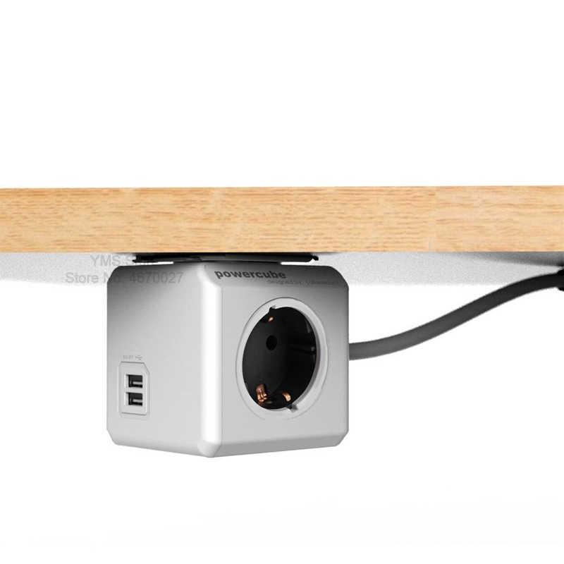 Alocacoc ue listwa zasilająca 3m wtyczka przewodu przedłużającego inteligentne gniazdo wyjściowe wielu wtyczek Powercube Adapter 2 porty USB 5V 2.1A Home Office