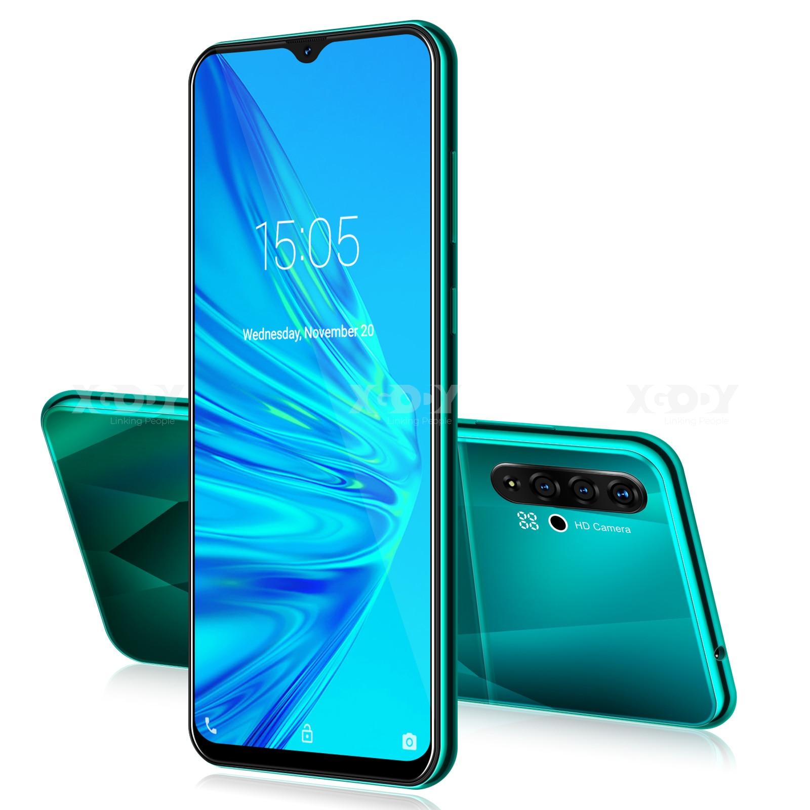 "XGODY A50 3G Smartphone 6.5"" 19:9 Android 9.0 1GB RAM 4GB ROM 5MP Camera Quad Core Dual SIM GPS WiFi Mobile Phones CellPhone"