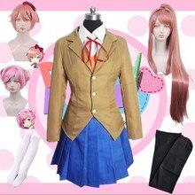 Doki Monika для костюмированной вечеринки, школьная форма, игровой костюм для девочек, Sayori Yuri Natsuki