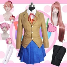 Costume Cosplay du Club de littérature Doki Doki, Monika Sayori Yuri Natsuki, uniforme scolaire, Costume de jeu pour fille