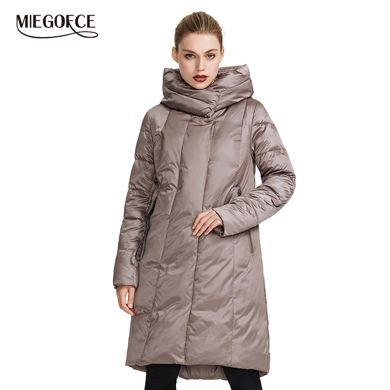 MIEGOFCE 2019 Winter Jacket Women's Collection Warm Coat With Unusual Design and Colors Parka Gives Charm and Elegance Suitable-in Parkas from Women's Clothing