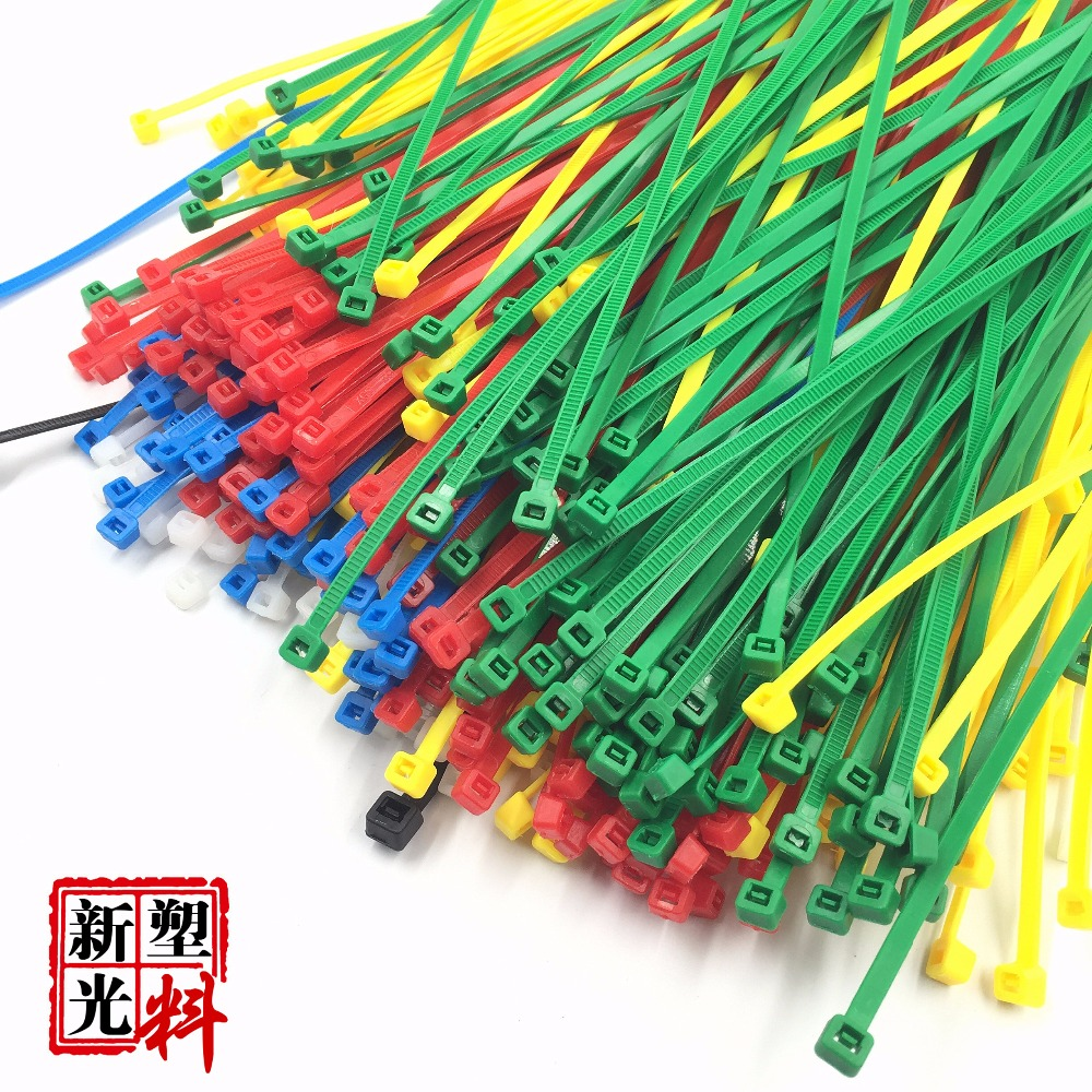 100Pcs/bag 200MM Self-Locking Green Red Blue Yellow Nylon Wire Cable Zip Ties.cable ties(China)