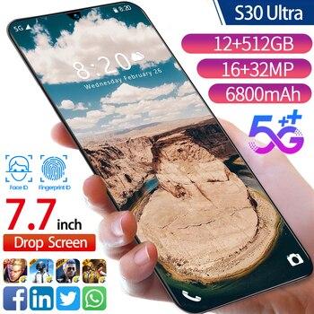 Ultra 7.7Inch HD Cellphones 4G 5G LTE Network  1