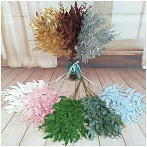 artificial leaves bouquet fake