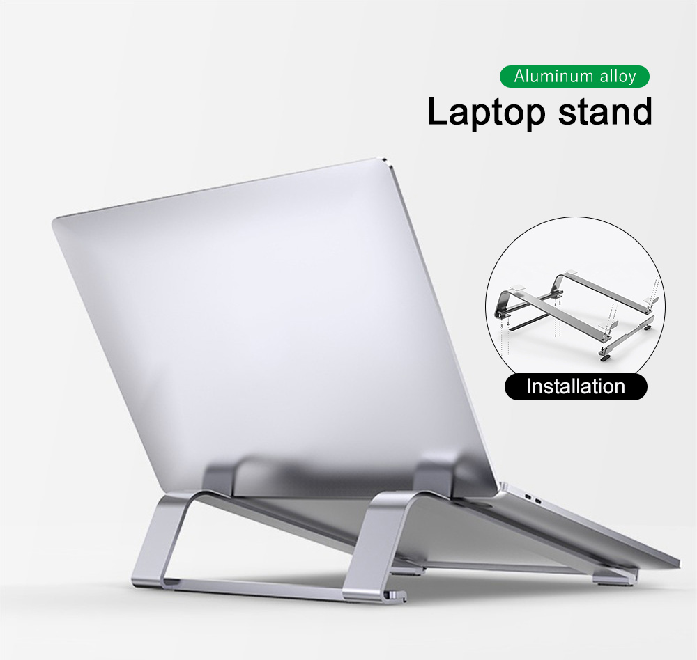 Aluminum Alloy Notebook Stand Portable Laptop Stand Holder For Macbook Air Pro 13 15 Non-slip Silicone Computer Cooling Bracket(China)
