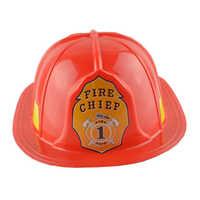 Disfraz de bombero rojo, Fancy Dress Up, gorra de fiesta de juegos de rol
