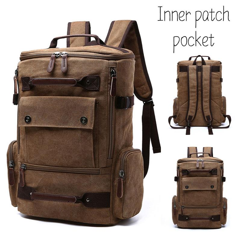 Portable Computer Bag Current Package Canvas Unisex Shopping Outdoor Travel Backpack Comfortable Storage Accessories