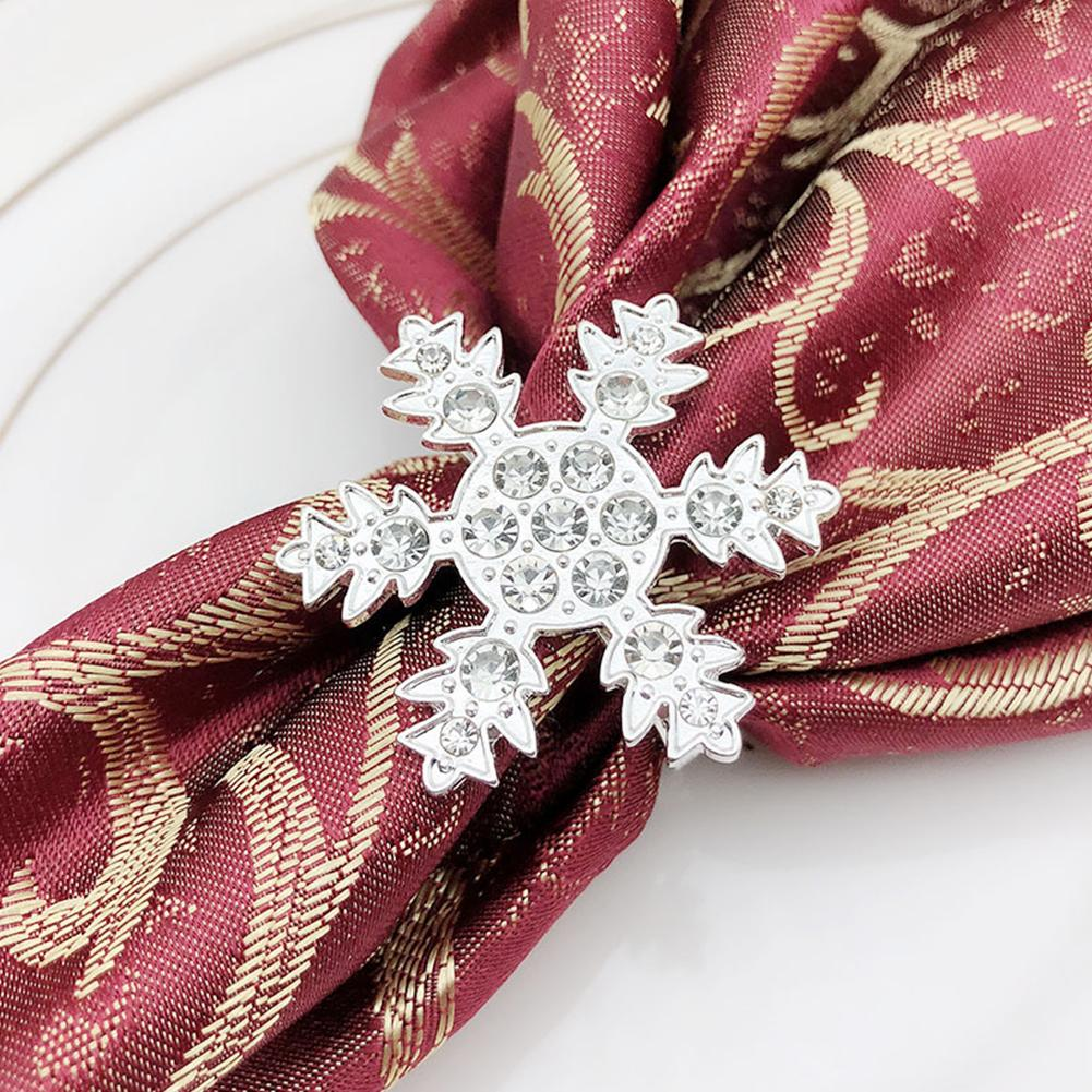 snowflake table decorations.htm christmas snowflake napkin ring napkin buckle rhinestone cloth  christmas snowflake napkin ring napkin