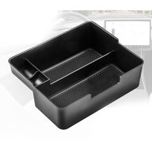 for tesla model 3 accessories car central armrest storage box auto container wallet phone glasses organizer case stowing tidying Car Central Armrest Storage Box Auto Container Organizer Case for Tesla Model 3