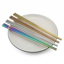 1 пара многоразовые радужные палочки для еды из нержавеющей стали посуда палочки для еды китайская столовая посуда Нескользящие 23 см палочки для еды кухня