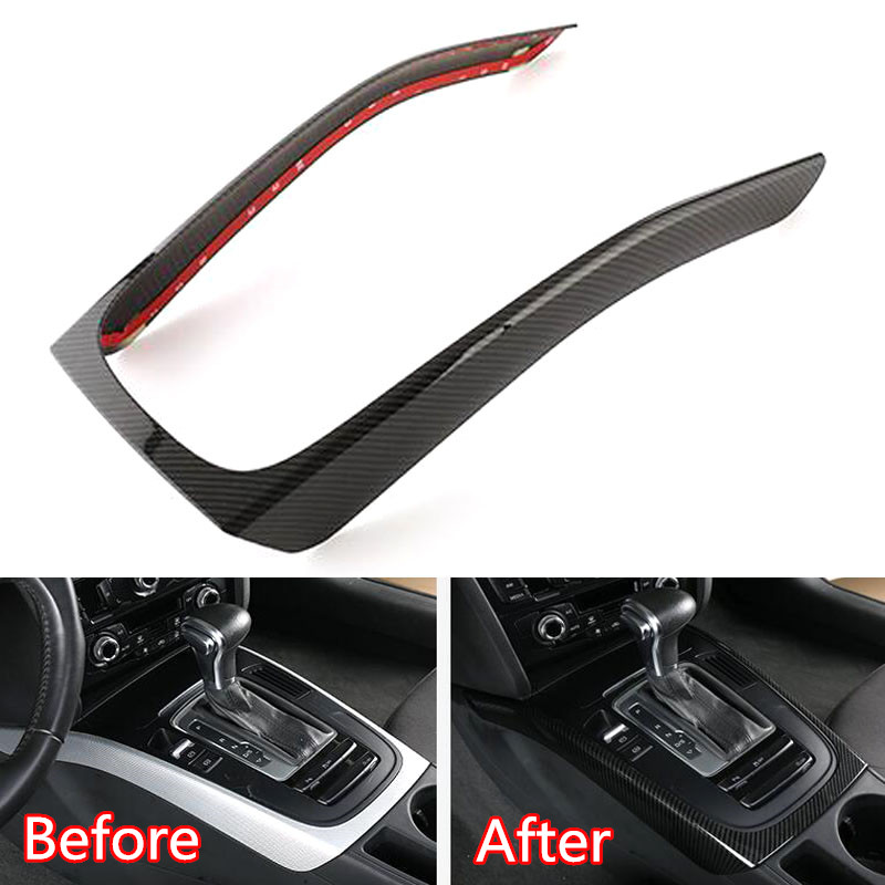 For Audi A4L/A5 2009-2016 Car Gear Shift Box Panel Frame Sticker Cover ABS Interior Car Accessory Styling