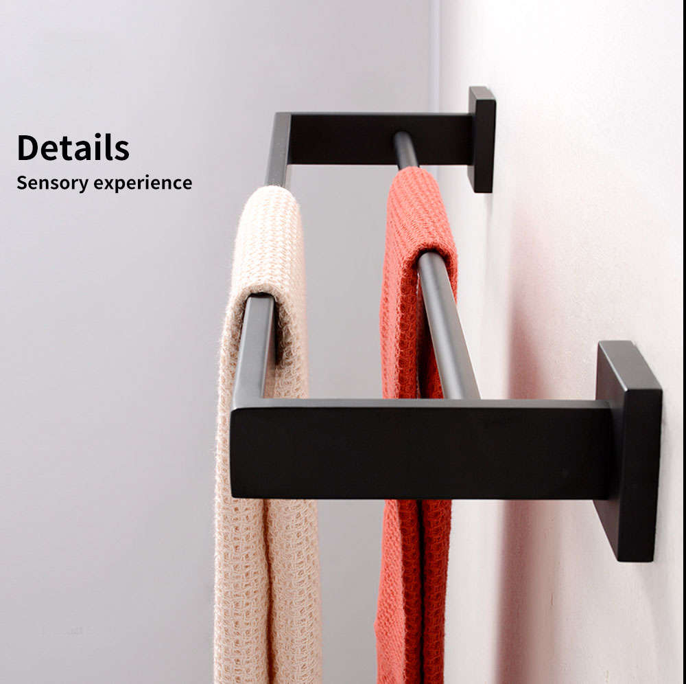 H6a797153e16c412fb982f23f84cbb3e8o - Tutima 304 Stainless Steel Matte Black Bathroom Hardware Set High Quality Towel Rack Ring shelf Paper Holder Bathroom Hooks