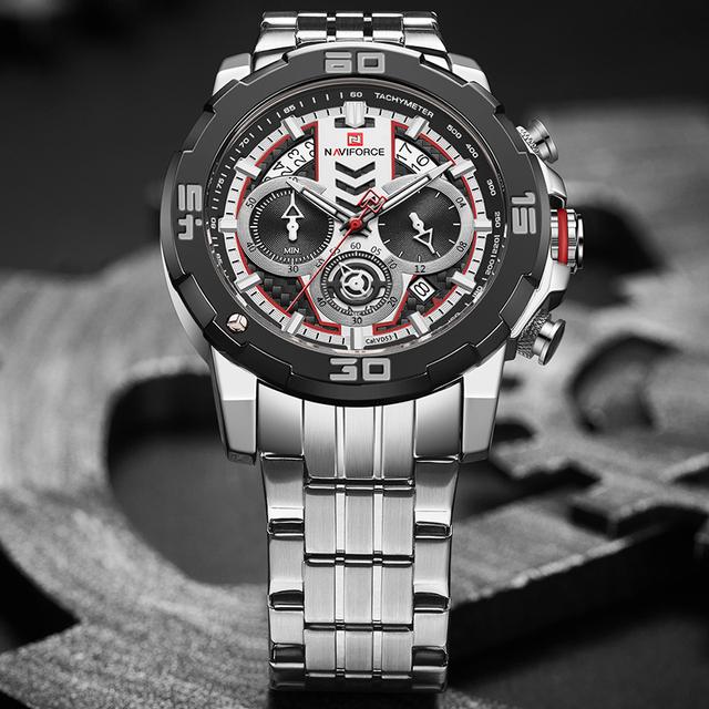 NAVIFORCE Men Watches Top Brand Luxury Luminous Quartz Men's Watch Stainless Steel Sport Chronograph Clock Relogio Masculino