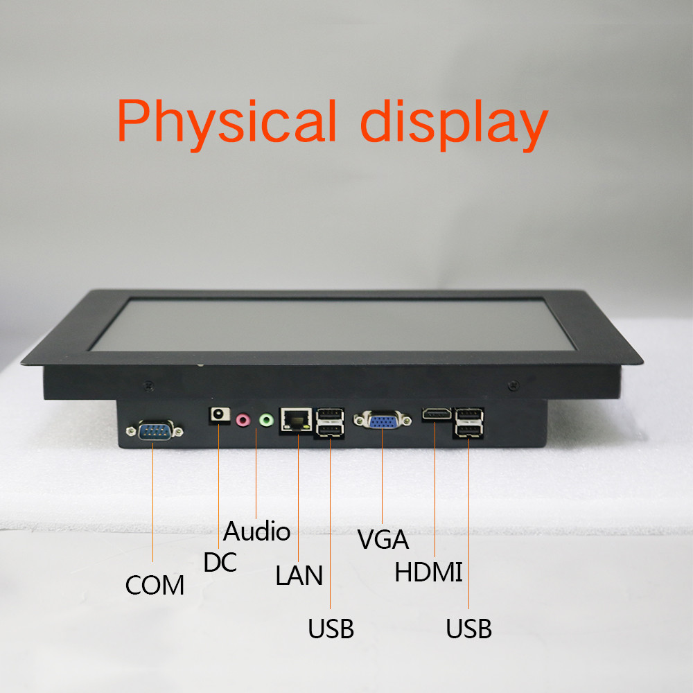 Manufacturer Waterproof 10 12 15 17 19 21 inch industrial fanless touch screen all in one panel PC enlarge