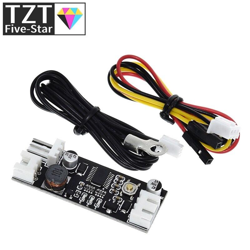 Одиночный 12V 0.8A DC ШИМ 2-3 провод вентилятор контроль температуры регулятор скорости шасси компьютера модуль снижения шума NTC B 50K 3950