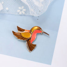 Exquisite Birds Enamel Pin Creative Cartoon Animal Red Black Badge For Women Men Suit Clothes Jewelry Sweater Accessories Decor(China)