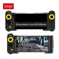 Ipega-mando inalámbrico PG9167 con Bluetooth, mando extensible para Xiaomi, Android, IOS, Pubg, teléfono móvil