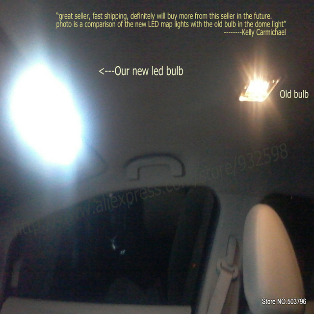 Interior led Car lights For Skod-a fabia 3 estate nj5 fabia 3 nj3 hatchback car accessories License Plate Light 10pc