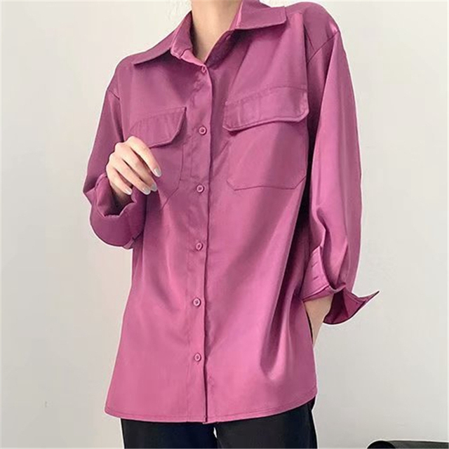 Elegant Shirt in fuchsia