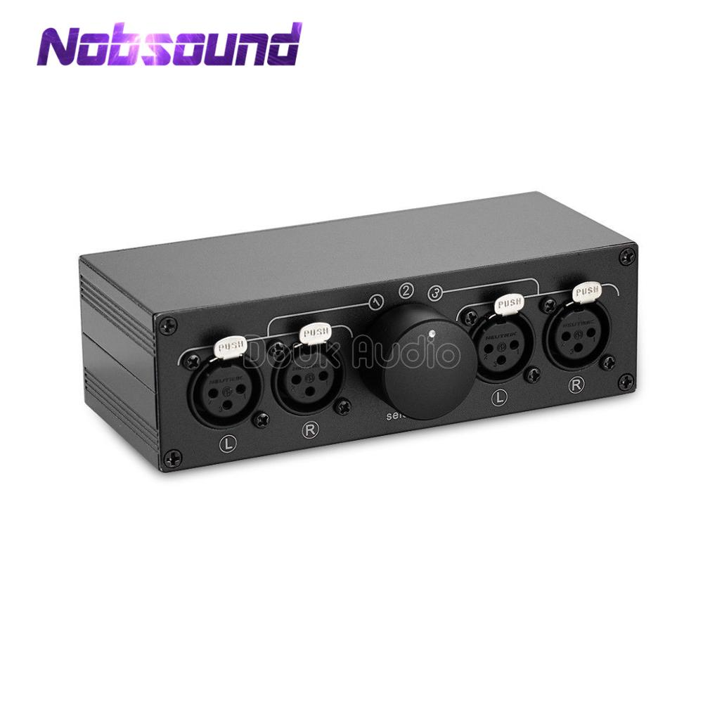Little Bear MC103 3(1)-IN-1(3)-OUT XLR Balance Stereo Audio Switcher Passive Selector Splitter Box