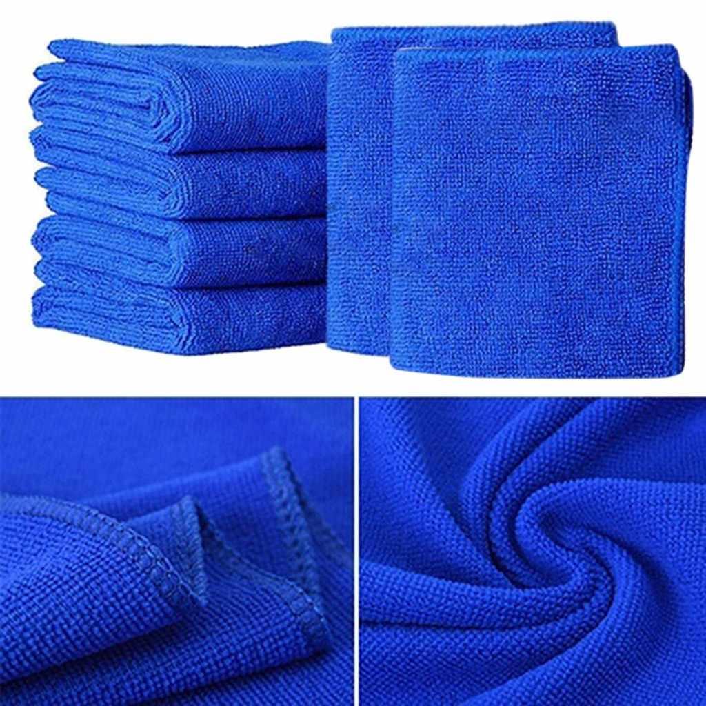 6 uds. Microfibra limpia Auto detalle del coche suave paño de microfibra toallas lavado plumero paño pulido automóvil limpieza Toalla de lavado # YL1