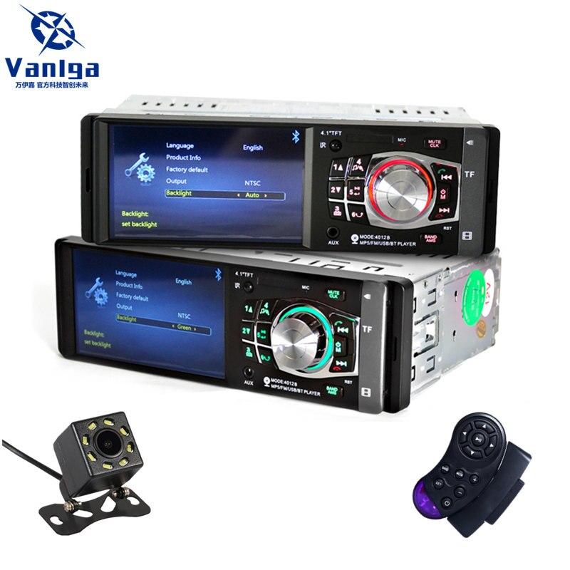 1 autoradio Auto 4.1 ''lecteur multimédia voiture HD MP3 MP5 radio stéréo Audio Bluetooth FM télécommande lecteur vidéo