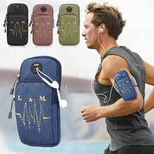 Sports Running Armband Bag Case For Lenovo K5 Pro L38041 Universal Waterproof Sport Phone Holder Outdoor Sport Phone Arm Pou(China)