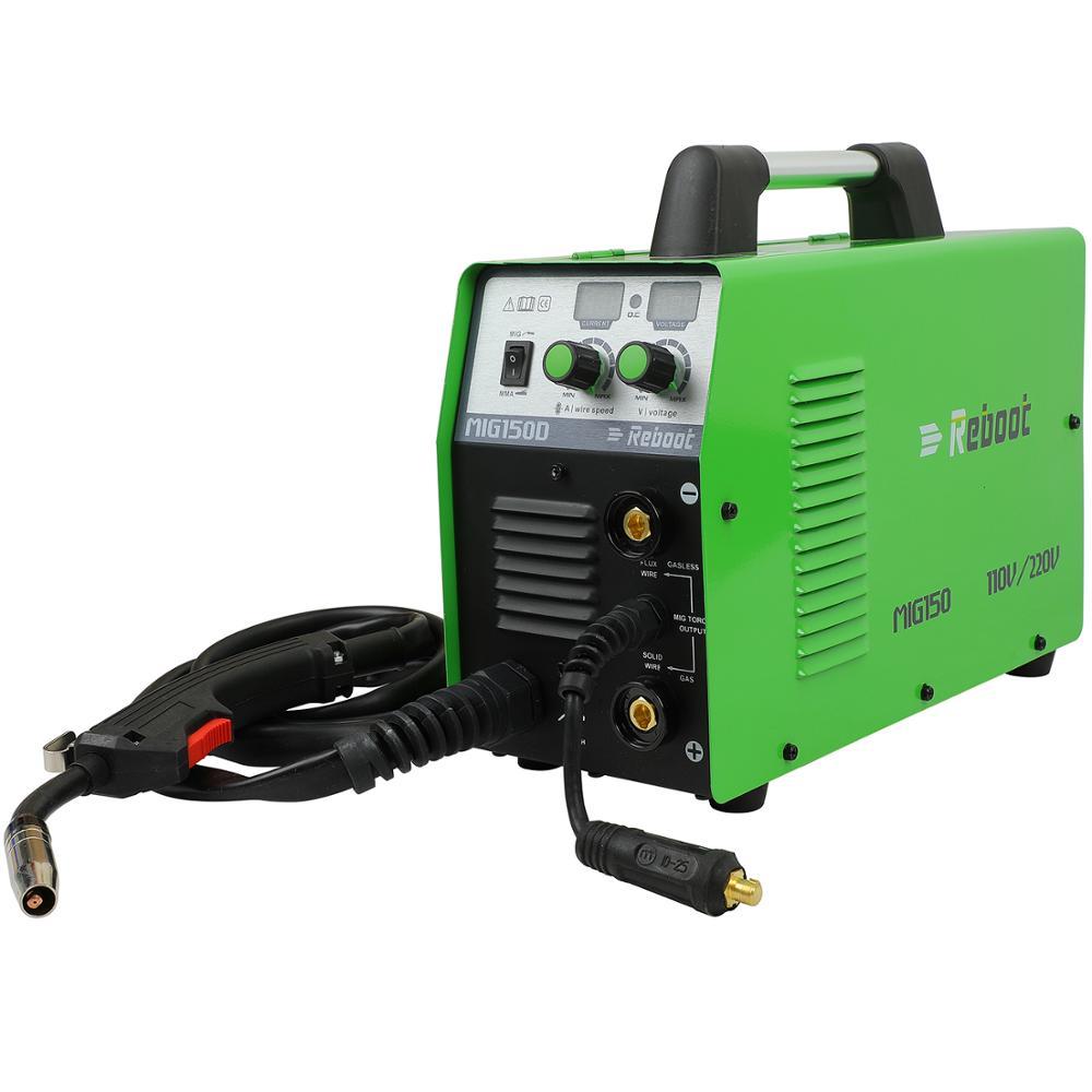 Machine MIG 220V Plug Functions Accessories Welder With In MIG 150 1 MAG EU Mig 2 Welder REBOOT MMA MIG US Welding MAG