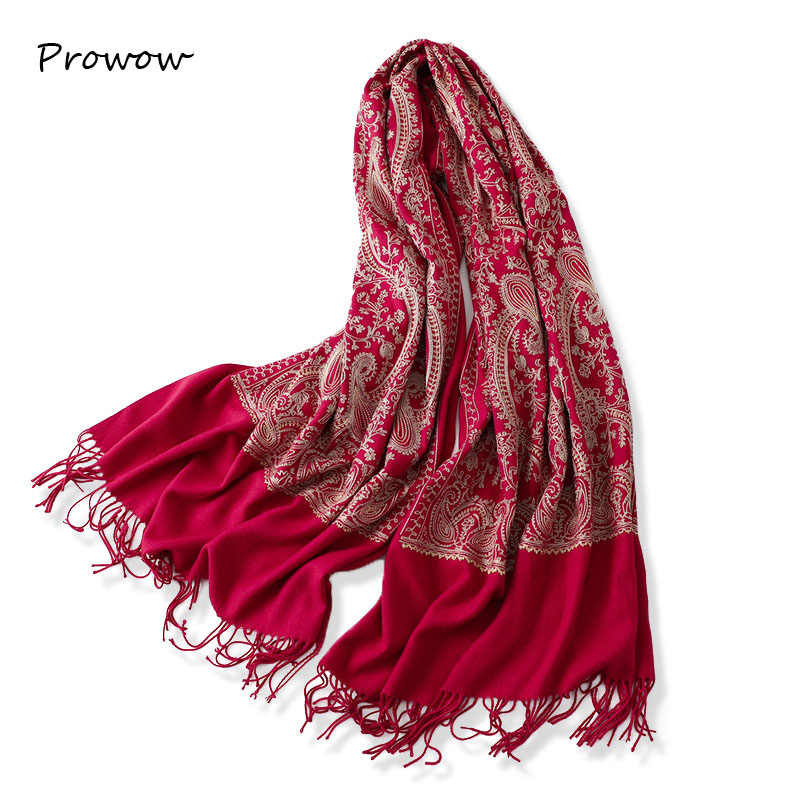 Women/'s Winter Scarf Double Sided Ladies Thick Tassel Cashmere Warm Shawls Wraps
